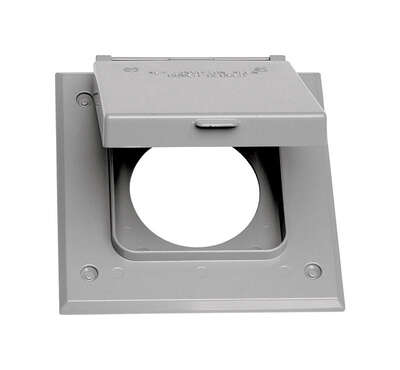 Sigma Electric  Square  Metal  2 gang 20/50 Amp Receptacle Cover  For Wet Locations