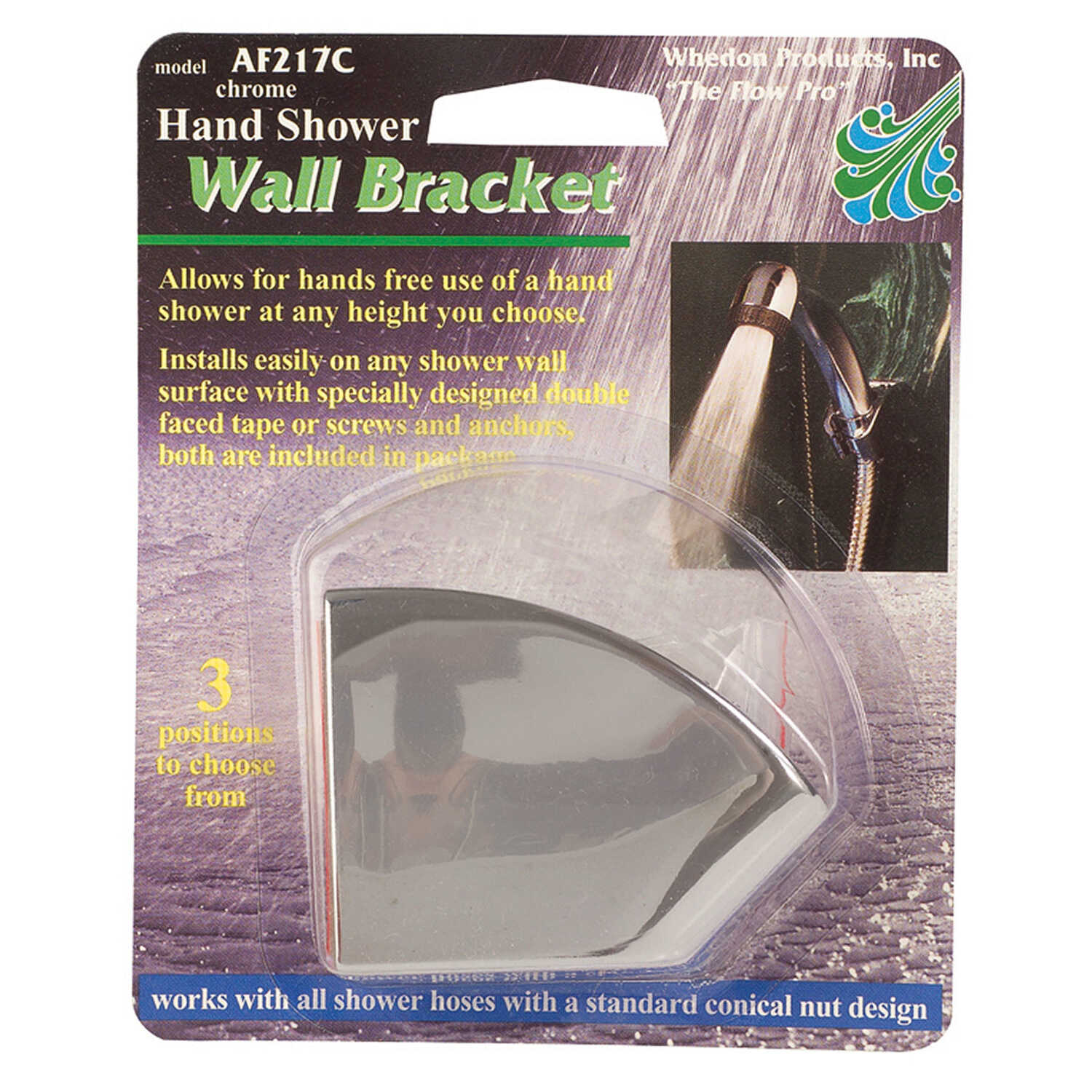 Whedon  Shower Wall Mount Bracket  3 settings