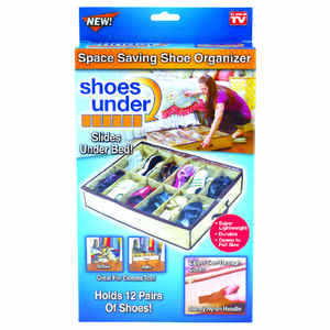 Telebrands  Shoes Under  As Seen On TV  Space Saving Shoe Organizer  Nylon  1 pk