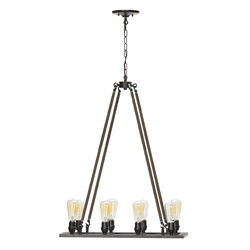 Globe  Matte  Brown  8 lights Chandelier