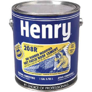 Henry  Smooth  Black  Rubber  Sbs Rubber Modified Roof Cement  1 gal.