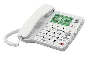 AT&T  Digital  White  Big Button Telephone  Built In Answering Machine 1