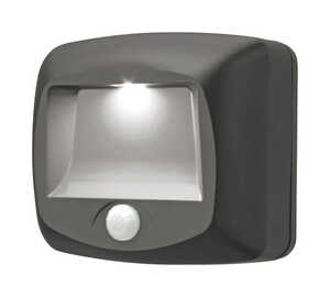 Mr. Beams  Plastic  Battery Powered  Motion-Sensing  Black  Stair Light