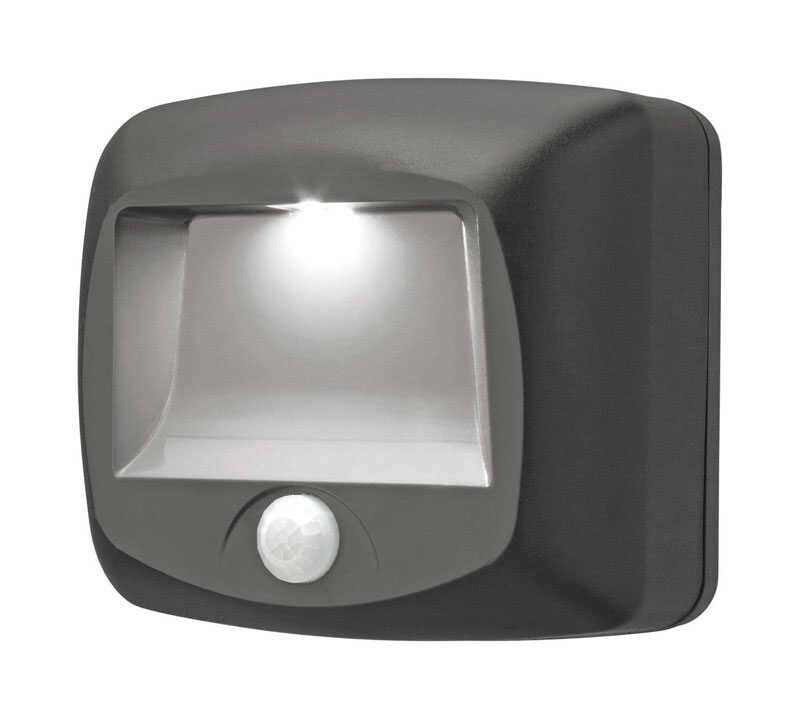 Mr. Beams  Motion-Sensing  Battery Powered  LED  Black  Stair Light