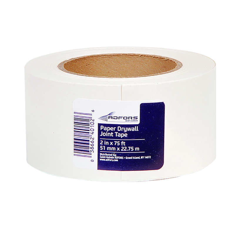 Adfors FibaTape 75 ft. L x 2 in. W Paper White Drywall Joint Tape