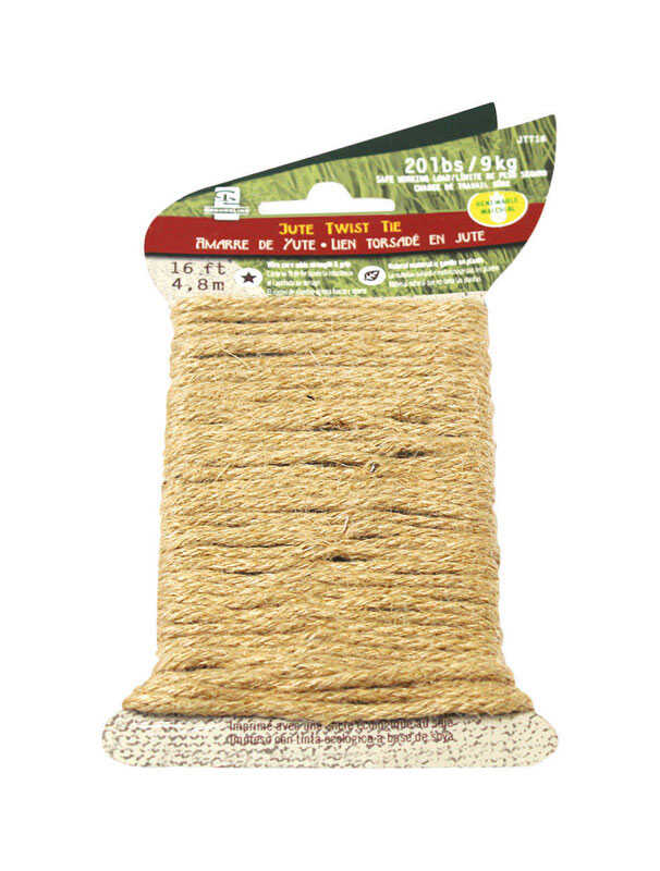 SecureLine  2/25 in. Dia. x 16 ft. L Natural  Braided  Jute  Twine