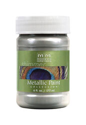 Modern Masters  Shimmer  Satin  Silver  Water-Based  Metallic Paint  6 oz.