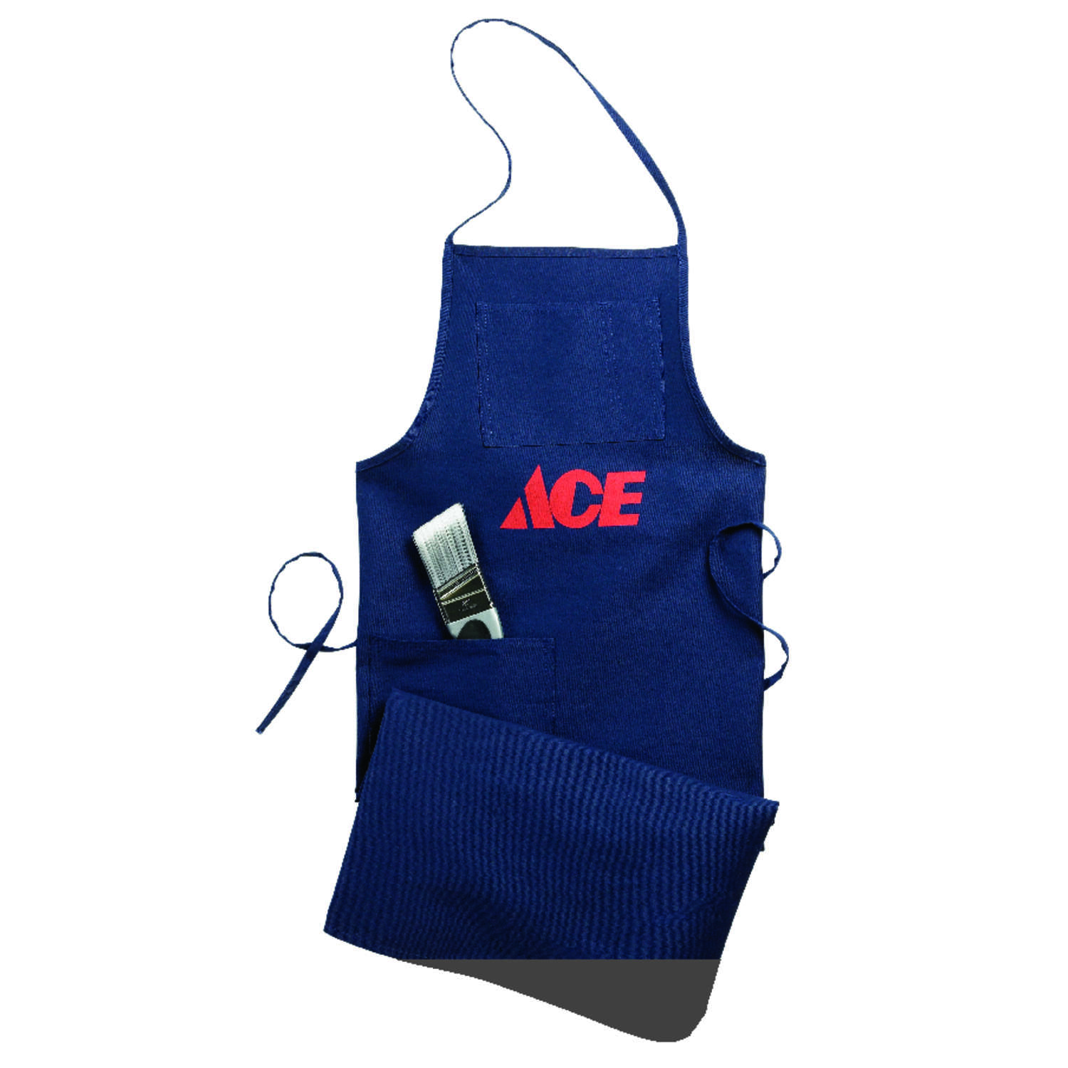 Ace Heavy Duty 1 pocket Cotton Shop Apron Blue 1 pk
