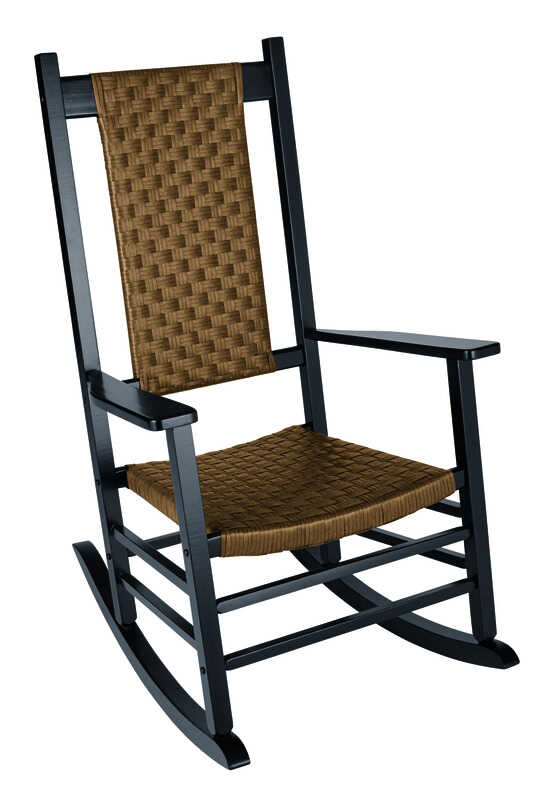 Jack-Post  Classic  Black  Wood  Knollwood  Rocking Chair