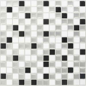 Peel and Impress  10 in. W x 10 in. L Vinyl  Adhesive Wall Tile  4 pc. Multiple Finish (Mosaic)