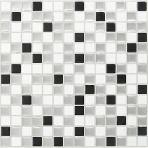 Peel and Impress  10 in. W x 10 in. L Multiple Finish (Mosaic)  Vinyl  4 pk Adhesive Wall Tile  Whit