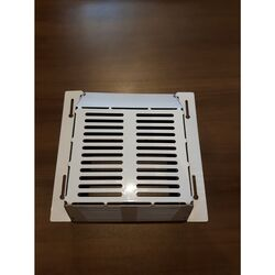 Wall-E-Cover  4 in. H x 4 in. L Galvanized  White  Metal  Wildlife Vent Cover