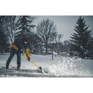 The Snowplow  Plastic  48 in. W Snow Pusher