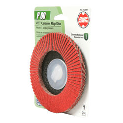 Shopsmith  4-1/2 in. Dia. x 7/8 in.   Ceramic  Flap Disc  60 Grit 1 pk