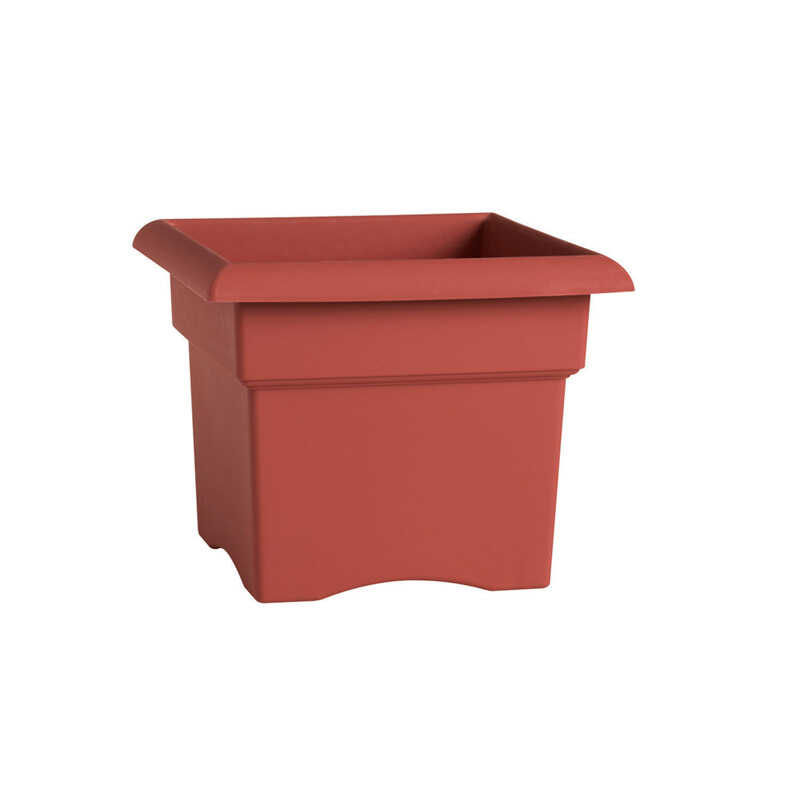 Bloem  11 in. H Terracotta Clay  Resin  Veranda  Planter