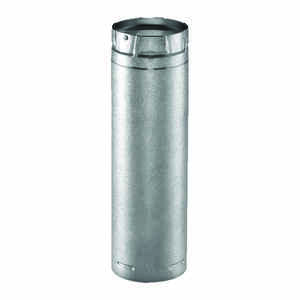 DuraVent  PelletVent  3 in. Dia. x 12 in. L Stainless Steel  Double Wall Stove Pipe