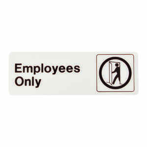 Hy-Ko  English  Employees Only  3 in. H x 9 in. W Plastic  Sign