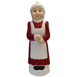 Union Products Red/White Mrs. Claus Blow Mold Christmas Decoration