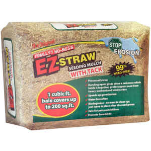 Rhino Seed  EZ-Straw with Tack  Brown  Seeding  Mulch  1 cu. ft.