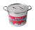 Bene Casa  Stainless Steel  Stock Pot  8.38 in. 8 qt. Silver
