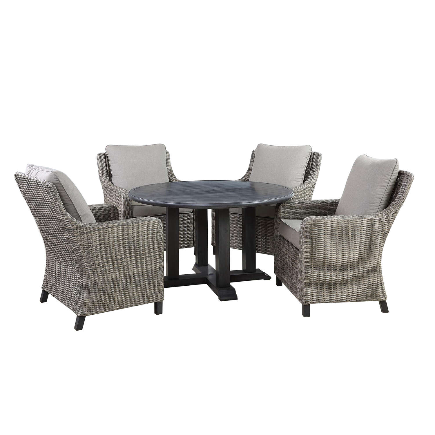 Living Accents Camas 5 pc. Black Aluminum Dining Set