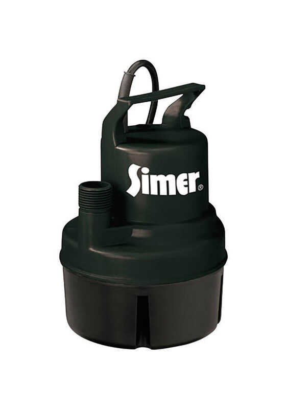 Simer  Thermoplastic  Utility Pump  1/6 hp