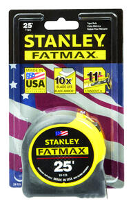 Stanley  Fat Max  25 ft. L x 1.25 in. W Tape Rule  Yellow  1 pk