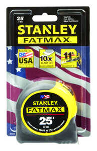 Stanley FatMax  25 ft. L x 1.25 in. W Tape Rule  1 pk Yellow