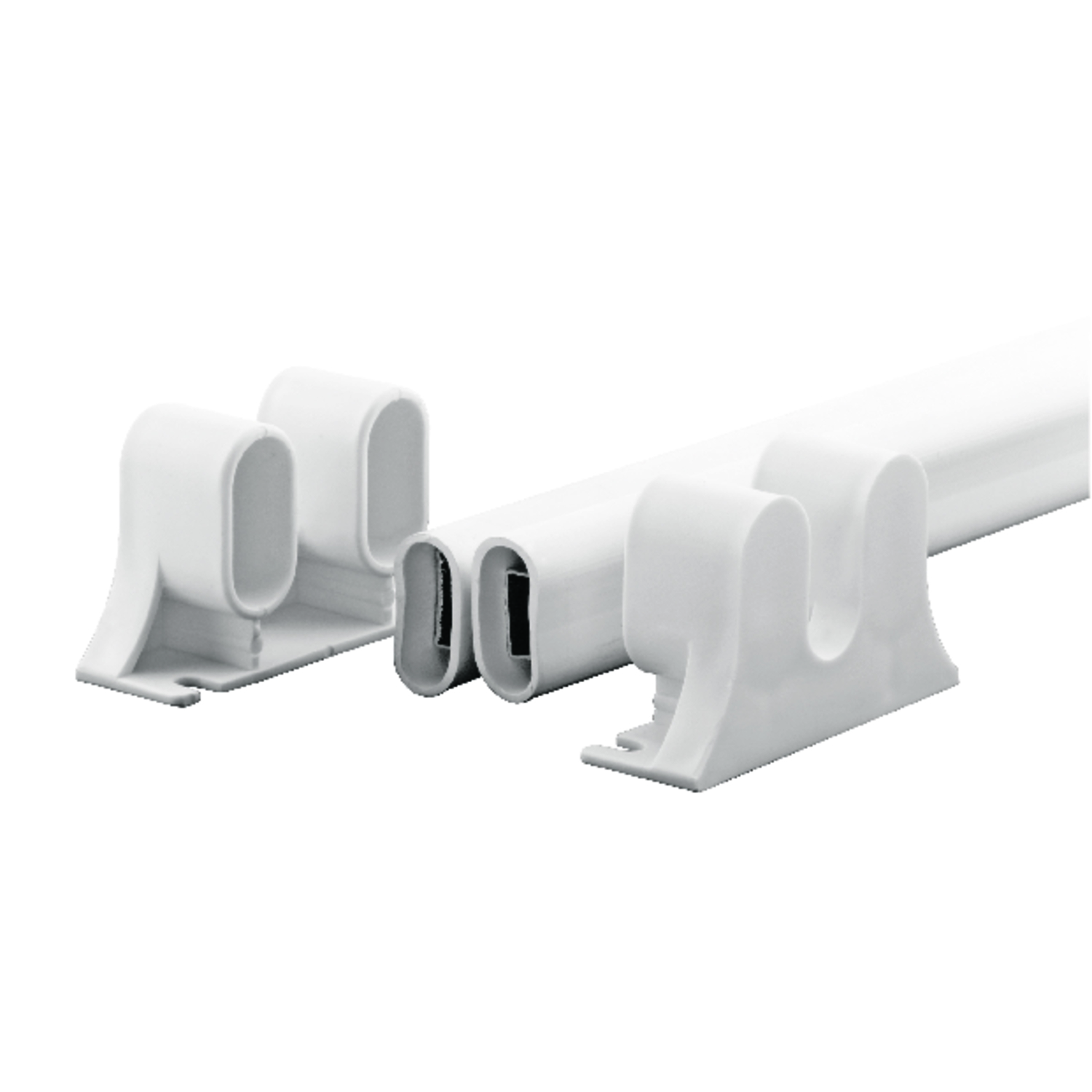 Prime-Line  White  Steel  Surface mount Push Plate  1 pk