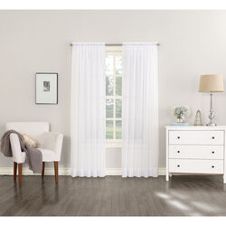 No. 918 Tangiers White Curtains 118 in. W x 84 in. L