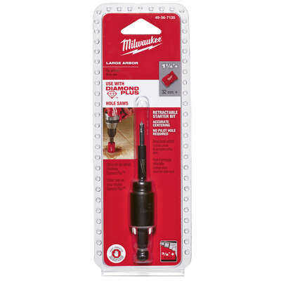 Milwaukee  5.7 in. L Carbon Steel  Retractable  Starter Bit and Arbor  2 pc.