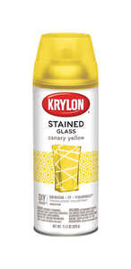 Krylon  Stained Glass  Spray Paint  11.5 oz. Canary Yellow