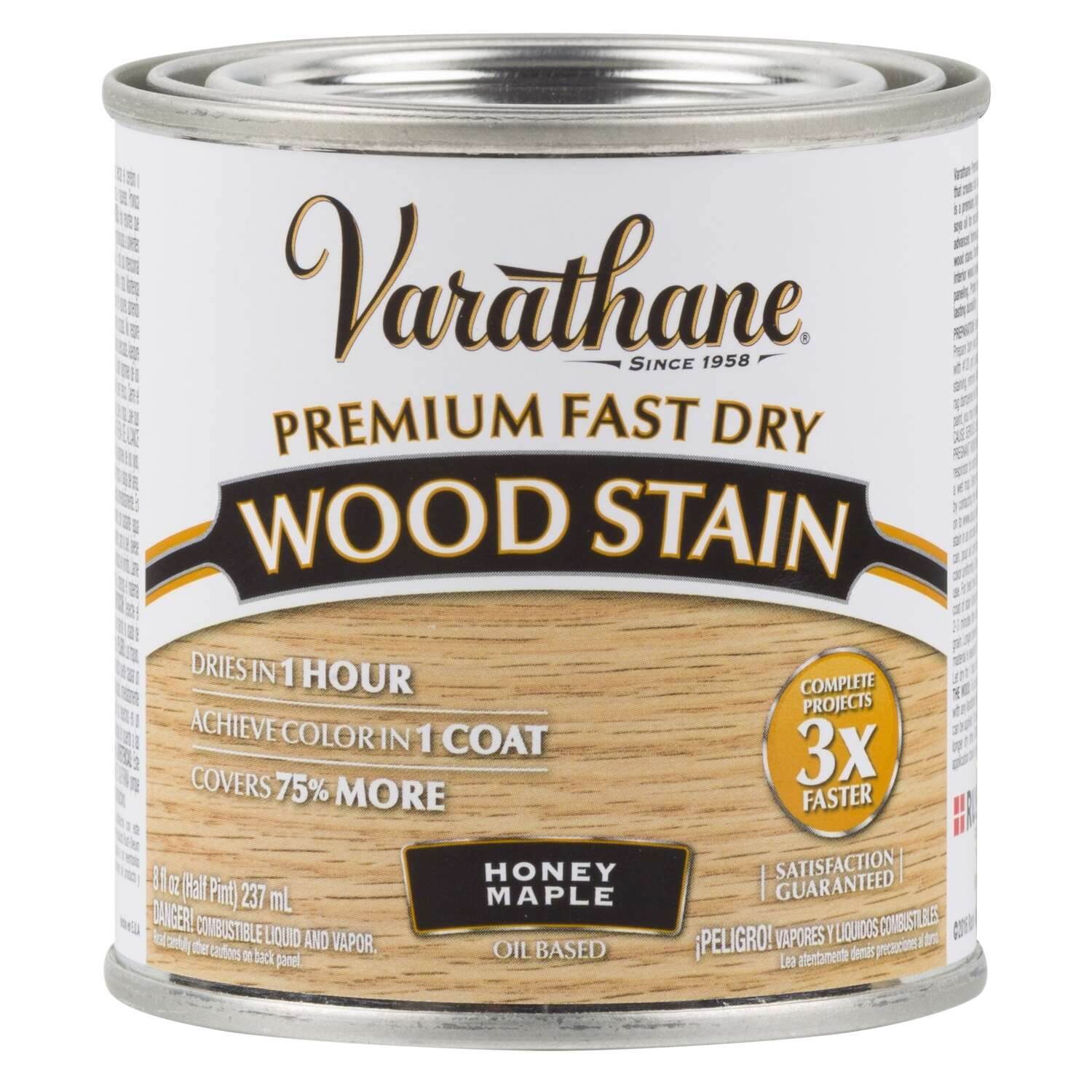 Varathane  Premium Fast Dry  Semi-Transparent  Honey Maple  Oil-Based  Urethane Modified Alkyd  Wood