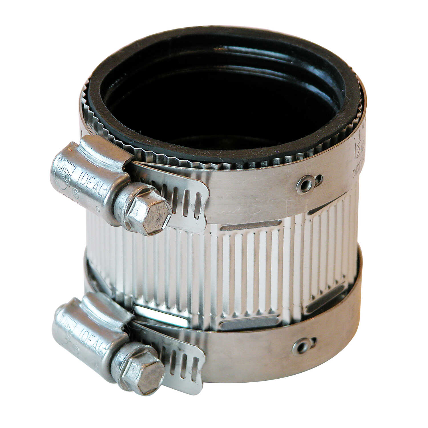Fernco  Schedule 40  1-1/2 in. Hub   x 1-1/2 in. Dia. Hub  Neoprene Rubber  No Hub Coupling