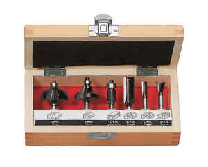 Craftsman  1/4 in. Dia. x Multi Size in.  x Assorted in. L Carbide Tipped  Dovetail,Flush Trim,Strai