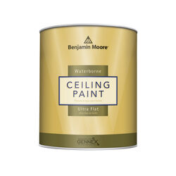 Benjamin Moore  Waterborne Ceiling Paint  Flat  Base 1  Ceiling Paint  Interior  1 qt.