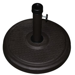 Bond  Black  Envirostone  Umbrella Base  18.9 in. W x 14.17 in. H