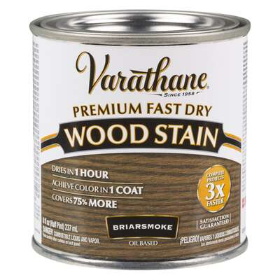 Varathane  Semi-Transparent  Briarsmoke  Oil-Based  Urethane Modified Alkyd  Wood Stain  0.5 pt.