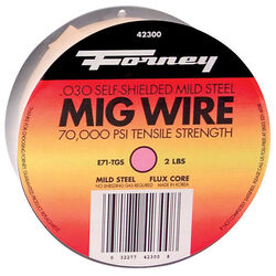 Forney E71T-GS 0.03 in. Mild Steel Flux Cored Wire 79000 psi 2 lb.