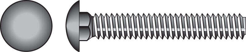 Hillman  3/8 in. Dia. x 2 in. L Hot Dipped Galvanized  Steel  Carriage Bolt  100 pk