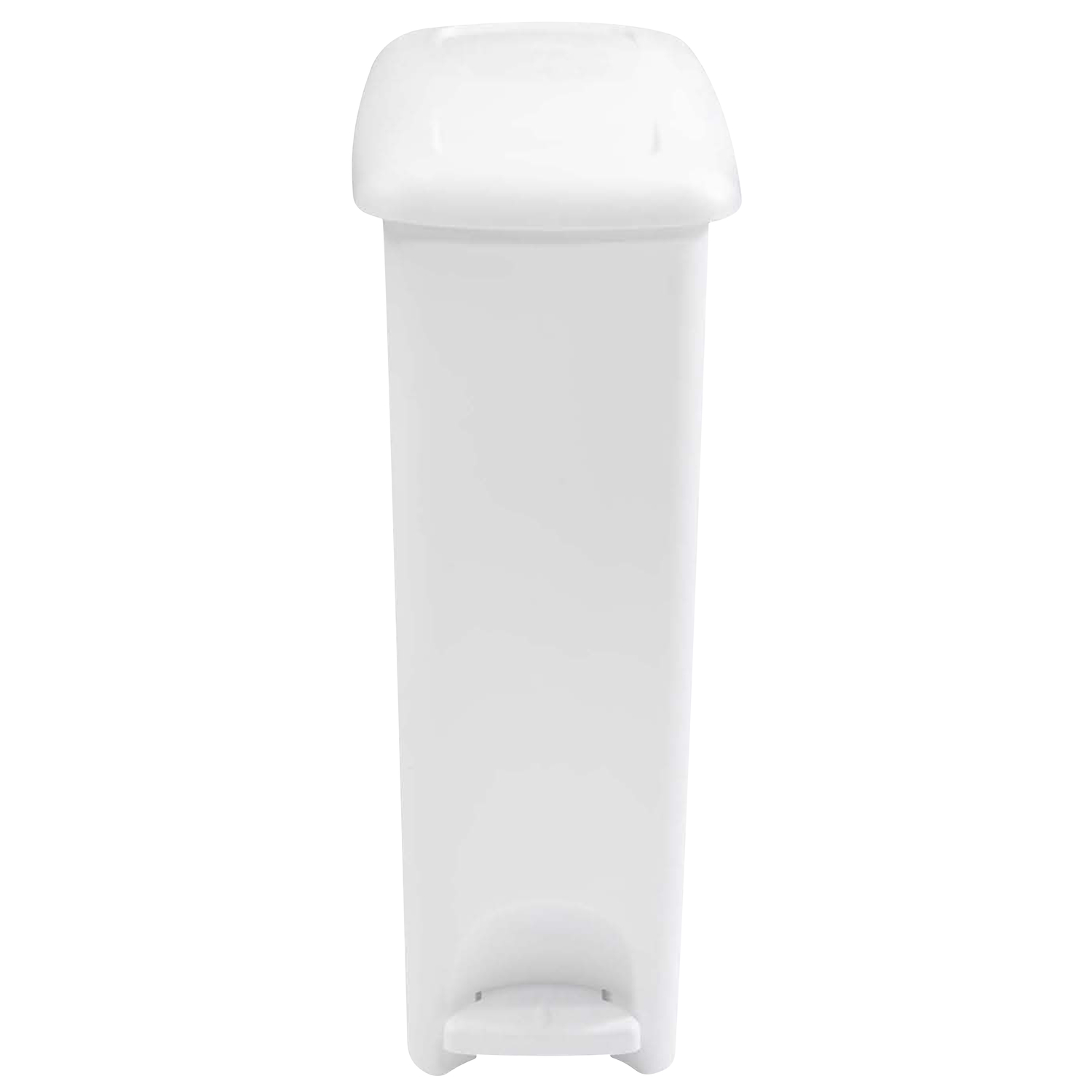 Rubbermaid  White  Slim Step  Wastebasket  45 qt.