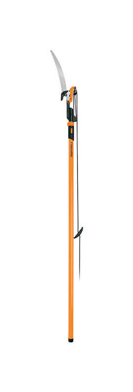 Fiskars  Power-Lever  156 in. Steel  Curved  Extendable Tree Pruner