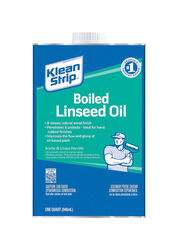Klean Strip  Transparent  Clear  Boiled Linseed Oil  1 qt.
