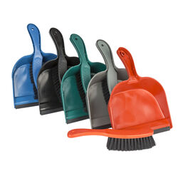 Good Old Values Plastic Handheld Dustpan and Brush Set