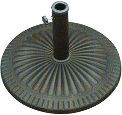 Bond  Bronze  Envirostone  Umbrella Base  21.5 in. L x 21.5 in. W x 13.18 in. H
