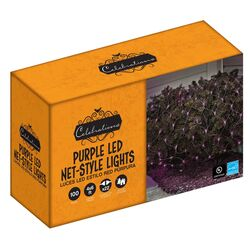 Celebrations  LED  Purple  100 count Net  Christmas Lights  4 ft.