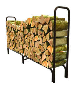 Panacea  Black  Powder Coated  Steel  Log Rack