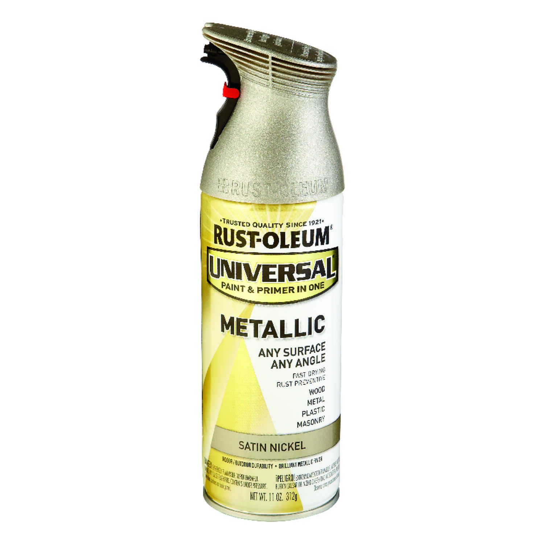 Rust Oleum Universal Paint Primer In One Spray Paint Satin Nickel
