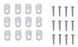 Prime-Line  Bright  White  Plastic  Screen Clip  12 pk