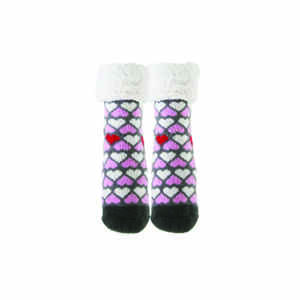 Pudus  Hearts  Slipper Socks  Acrylic/Polyester  1 pair